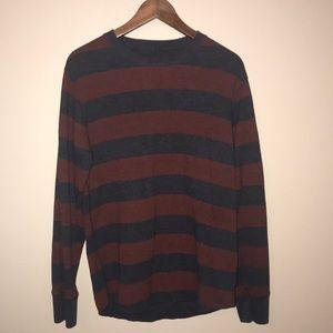 Gap size medium striped thermal shirt, EUC.